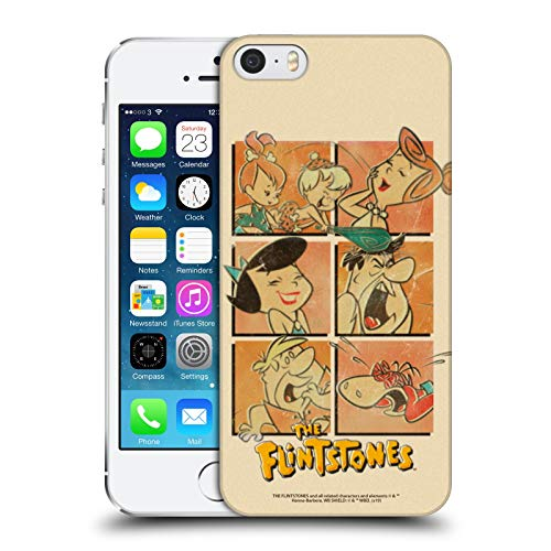 Head Case Designs Ufficiale The Flintstones La Gang Vintage Cover Dura per Parte Posteriore Compatibile con Apple iPhone 5 / iPhone 5s / iPhone SE 2016