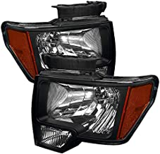 Carpartsinnovate For 09-14 Ford F150 F-150 Euro Pickup Black Headlights Corner Turn Signal Lamps Pair