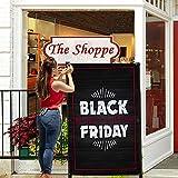 HALF PRICE BANNERS   Black Friday Crown Vinyl Banner -Indoor/Outdoor 5X3 Foot -Black   Includes Ball Bungees & Zip Ties   Easy Hang...
