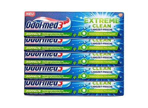 5x Odol-med 3 Extreme Clean Langzeit Frische 75ml