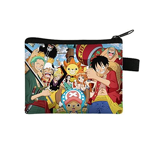 YUMEI Una pieza Luffy - Cartera impresa para hombre, carteras para niños y adolescentes