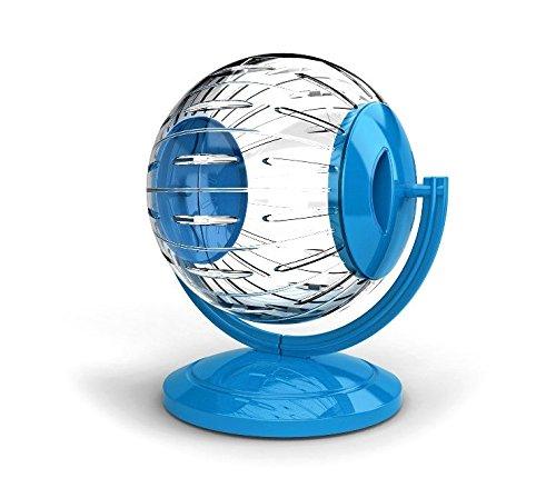 Georplast 10574 Mini Twister Toy voor hamsters en kleine knaagdieren ø12,5 cm met houder. Media Wave Store ® (Blu)