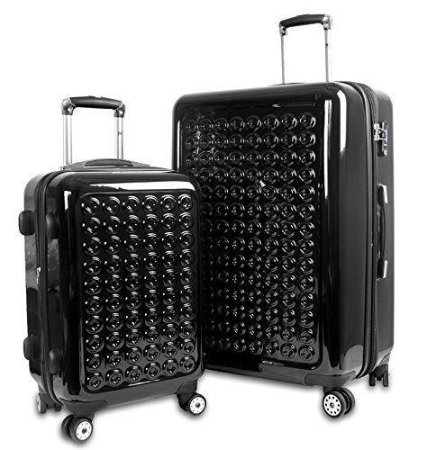 J World New York Jonit Hardside Spinner 2-Piece Luggage Set, Black, One Size
