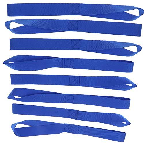 ENET 8 Stück 45,7 cm Universal Soft Loop Spanngurte zum Schutz von Motorrad ATV UTV 45,5 cm x 2,5 cm blau