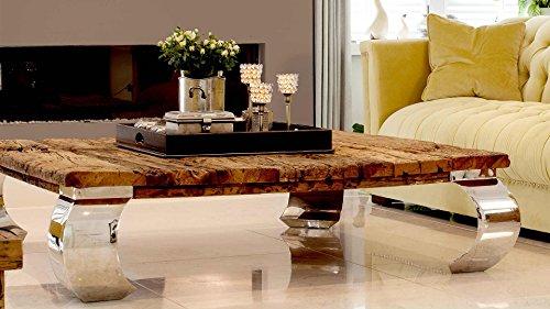 *Wohnzimmertisch Couchtisch Tisch Schwemmholz Treibholz Möbel Maison Chrom Deko*