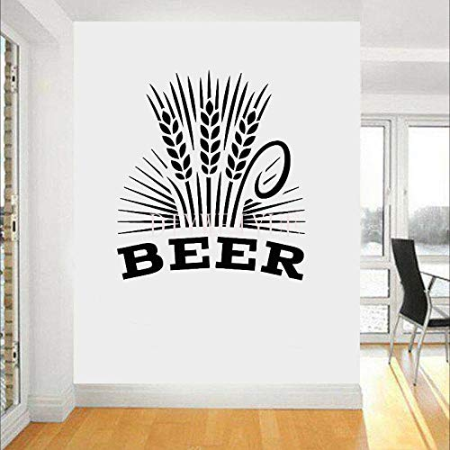 Restaurant Pub Tarwe Bier Muursticker Vinyl Bar Decor Brouwerij Muurdecoratie Decals Verwijderbare Interieur Decoratie Behang 64X57CM
