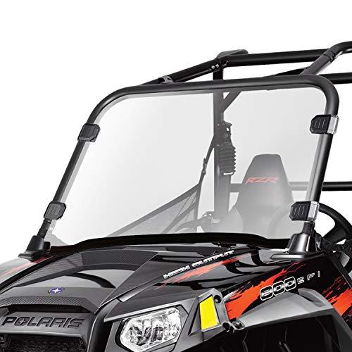 AURELIO TECH Clear UTV Full Windshield for Polaris Razor, 12-18 RZR 570, 08-14 RZR 800, 09-14 RZR S 800, 10-14 RZR 4 800, 11-14 RZR XP 900, 11-14 RZR XP 4 900, 2020-2021 RZR Trail 570