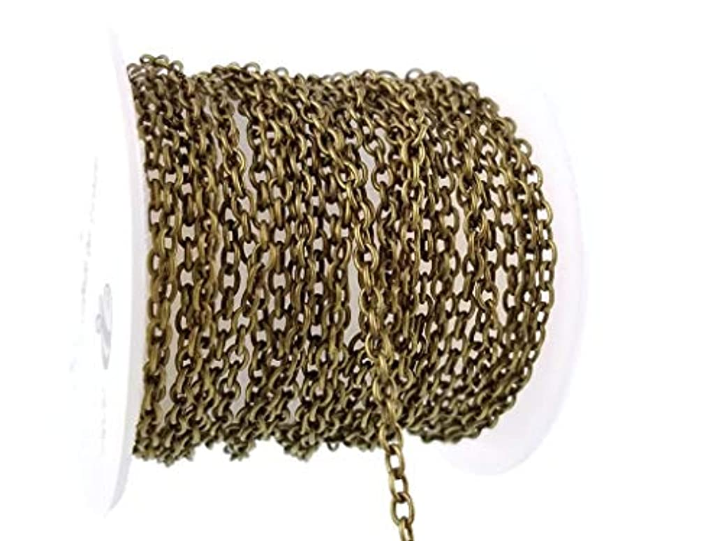Sodacraft Antique Bronze Cable Chain Spool for Jewelry Making- Nickel Free (2 x 3mm) 2mm