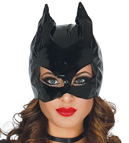 Catwoman máscara negra en vinilo para disfraces sexy