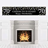 Big Dot of Happiness Adult 70th Birthday - Gold - Happy Birthday Decorations Party Banner