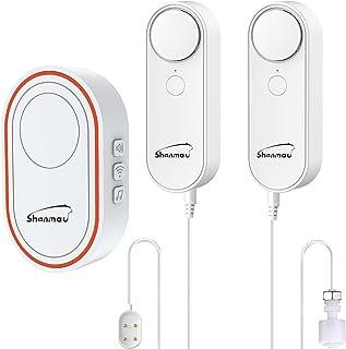 Shonmau Detector de agua inalámbrico 3 en 1, kit inteligente WiFi: alarma de nivel de agua alto/bajo y sensor de fugas, pa...