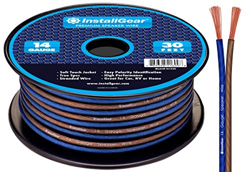 InstallGear 14 Gauge AWG 30ft Speaker Wire True Spec and Soft Touch Cable
