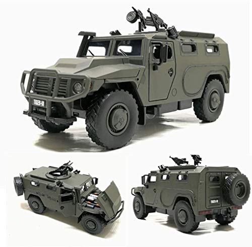 ZCX Toy Car Tactical Military Vehicle Alloy Pull Back Car Military Model Military Armored Vehicle Model Boy Girl Decoration Favorites Gift Die-Cast Vehicles (Color : Green)