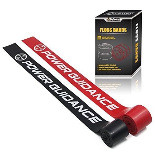 POWERGUIDANCE Floss Bands (2er Packung) Kompressionsbänder-Mobility&Recovery Bands-für die Verbesserung der Bewegung, Muskelwachstum, Steigerung der Durchblutung und Verringerung der Schmerzen