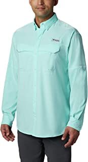 Columbia Sportswear Men's Low Drag Off Shore Long Sleeve Shirt, Gulf Stream, XX-Large