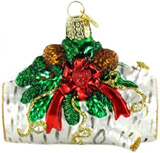 Old World Christmas Ornaments: Home Gifts Glass Blown Ornaments for Christmas Tree, Yule Log