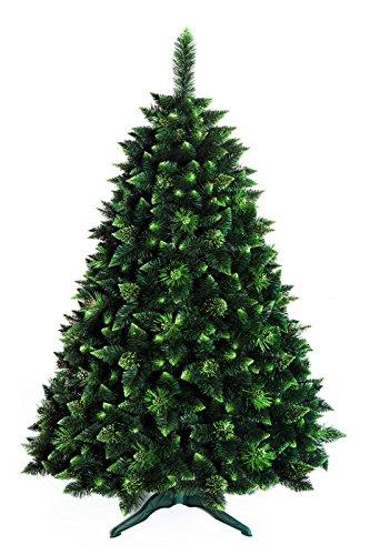 Árbol de Navidad | 7 ft (220 cm) Nuevo Bosque Encajado Tradicional Verde Lujo, Pino olive, (7ft Olive…