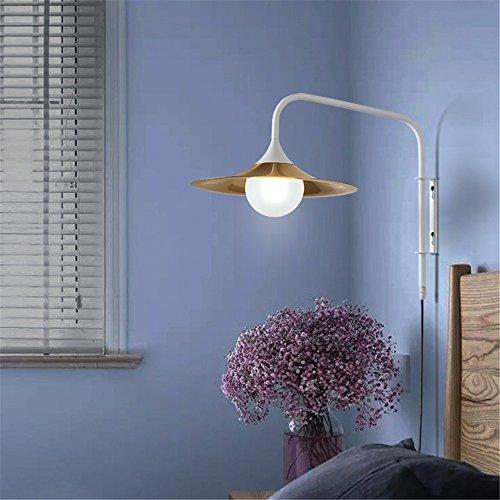 YU-K Eenvoudige vintage woonkamer eetkamer gast restaurant tv-wandlamp studie slaapkamer bed lezen wandlamp met stekker