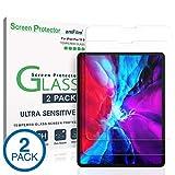 amFilm iPad Pro 12.9 Panzerglas Folie (2020 & 2018 Modelle), Abger&ete Ecken Panzerglas (Gehärtetem Glas) Schutzfolie für Apple iPad Pro 12.9 Zoll (2 Stück)