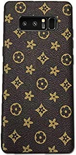 New Vintage Luxury Monogram for Samsung Galaxy Note 8 Case Handmade with Premium TPU Soft Flexible Anti-Scratch Drop Protection … (Brown)