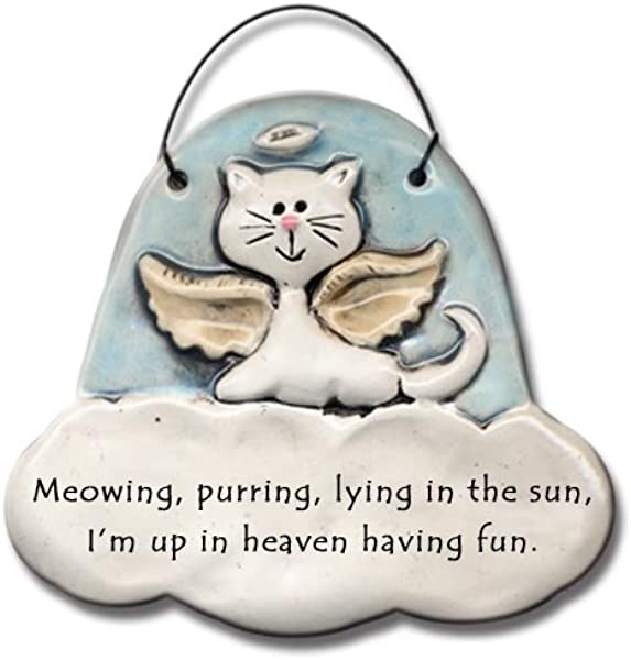 Ornament Cat In Heaven Meowing Purring Up In Heav