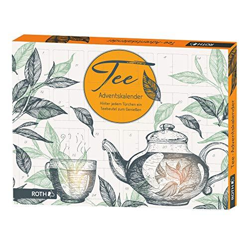 ROTH Tee-Adventskalender, gefüllt mit 24 Teebeuteln, 45x34x4cm
