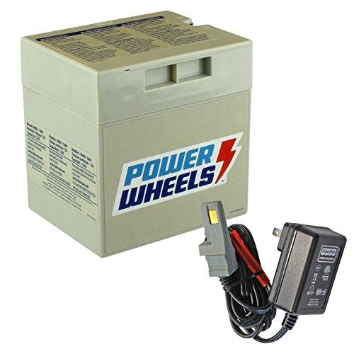 Gray 12V Power Wheels Battery + 12 Volt Gray Charger w/ Probe 00801-1480