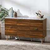 GOOD & GRACIOUS Sideboard Cabinet, Mid Century Modern Console Storage Buffet Credenza Cabi...
