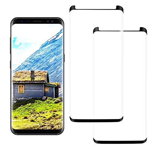 2 Pack Galaxy Note 8 Screen Protectors, [9H] [case Friendly] [Anti-Fingerprint] [ 3D ] Screen Protection Compatible Galaxy Note 8 Screen Protectors