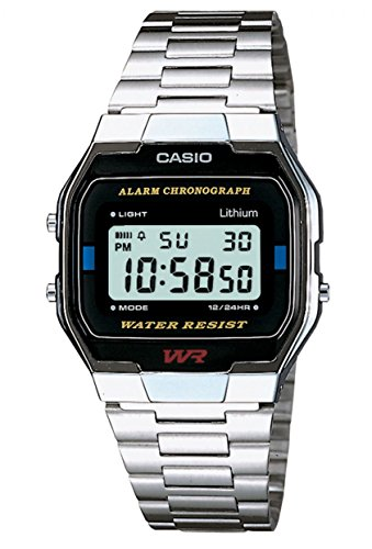 Casio Collection – Unisex-Armbanduhr mit Digital-Display und Edelstahlarmband – A163WA-1QES