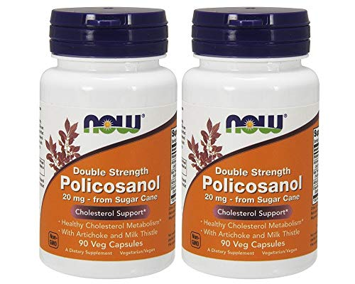 NOW Foods Policosanol 20mg Plus, 180 Vcaps (90 X 2)