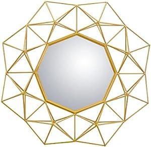 Slate & Rose - Espejo de Pared (Metal, 76 x 13 cm), Color Dorado