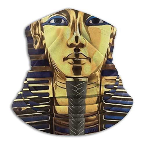 SARA NELL King Pharaoh Tutankhamun Egypt Tut Egyptian Neck Gaiter Headwear Face Sun Mask Magic Scarf Bandana Balaclava Headband For Men Women Cycling Fishing Motorcycling Running Skateboarding