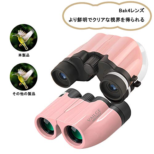 VAILGEオペラグラス10倍高倍率Bak4レンズ7.5°広視野双眼鏡軽量防水双眼鏡ライブめがね対応望遠鏡折り畳みオペラグラスコンサート用ピンク