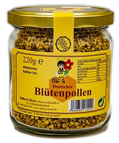 ImkereiBeck® 100% Echter Deutscher Blütenpollen in Imkerqualität - Deutscher Premium Pollen vom Imker aus Bayern/Rein und natürlich/Superfood der Bienen/ohne Zusatzstoffe