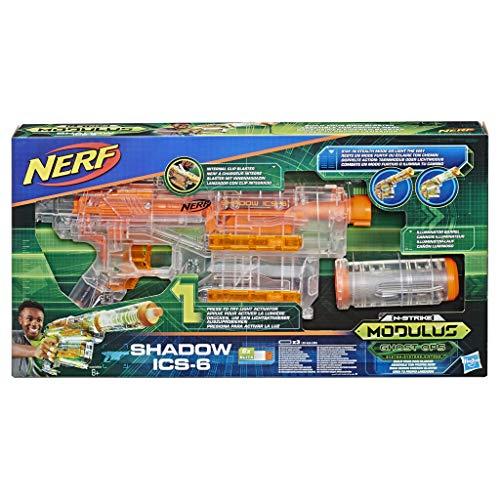 Hasbro Nerf E2655EU4 N-Strike Modulus Ghost Ops Shadow ICS-6, Spielzeugblaster mit Tarn-oder Lichtmodus, Multicolor