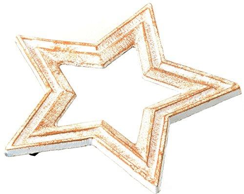 トスダイス 鍋敷き CASTIRON STAR TRIVET アンティークホワイト TDST09-6757WH