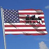 Feng Mei Yan Jiu Fahnen Miami Florida Silhouette Skyline MAP Country Banner Flag Game Flag Anniversary Flag 3'X5' House Banner