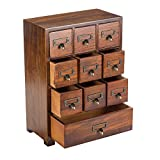 Primo Supply Traditional Solid Wood Small Chinese Medicine Cabinet l Vintage and Retro Look with Great Storage Apothecary Drawer Herbal Dresser l Great for Modern Things | Tall - Fully Assembled