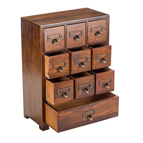 Primo Supply - Armario de medicina china tradicional de madera maciza, diseño vintage y retro, con gran almacenamiento de boticaria, ideal para almacenamiento de cosas modernas