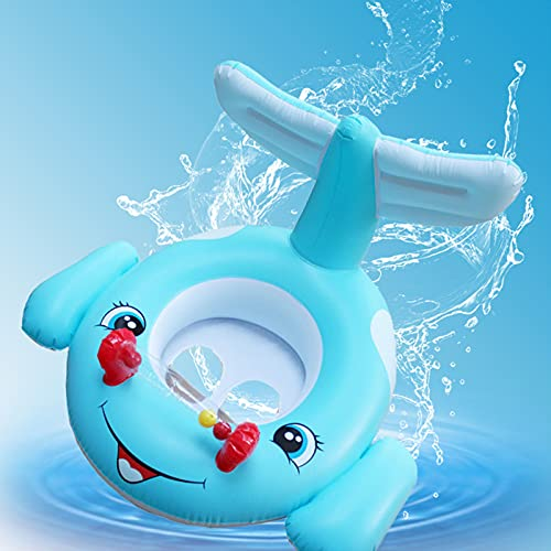 GWQDJ Baby Natación Flotador, Anillo De Natación Bebé Inflable Asiento Entrenador De Piscina, Piscina Inflable De Bebé Flotante con Asiento