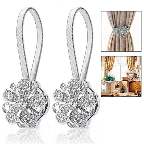 Crystal Magnetic Curtain Tiebacks $12.59 (30% OFF Coupon)