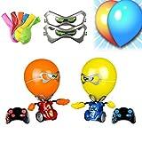 kjhy Robo Kombat Balloon Puncher, Battling Robot with Balloon Head, Remote Control Boxing Robot Blasting Balloon Battle Toy, Multiplayer Games