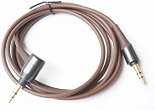 Replacement ATH-MSR7 Audio Cable Extension Cord Lead Compatible Audio Technica ATH-MSR7GM ATH-SR5NBW ATH-SR5BT Sony MUC-S12SM1 MDR-1A Headphone (Brown-L Shape)