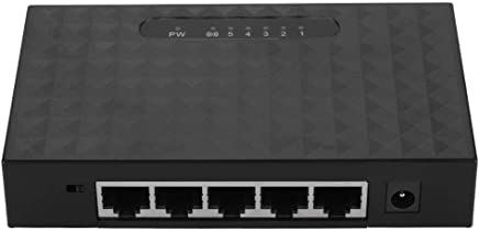Tosuny Switch 5 Porte Ethernet, Supporta l'installazione Desktop e Il Montaggio a Parete, Adatta per Il Collegamento in Rete di dormitori scolastici, uffici, uffici Domestici, videosorveglianza(Nero) - Trova i prezzi più bassi
