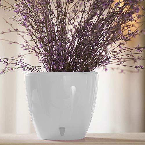 DecoPots - 11.2' Self Watering Planter - Indoor Outdoor Decorative Flower Pot with Drainage...