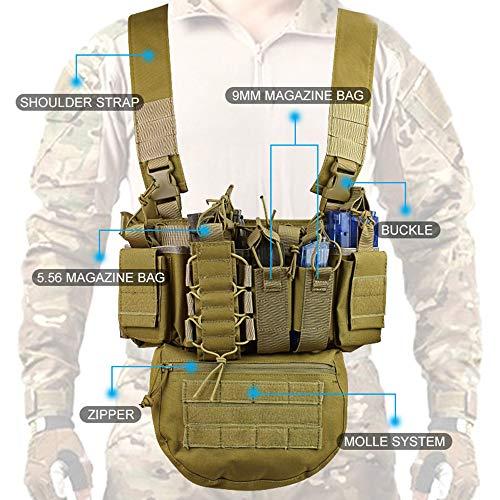 Kstyhome Laufübung Gewichtsweste Fitness-Tool Trainingsgeräte Sport Multifunktionales Outdoor-Feld CS Army Fan Weste mit Tasche