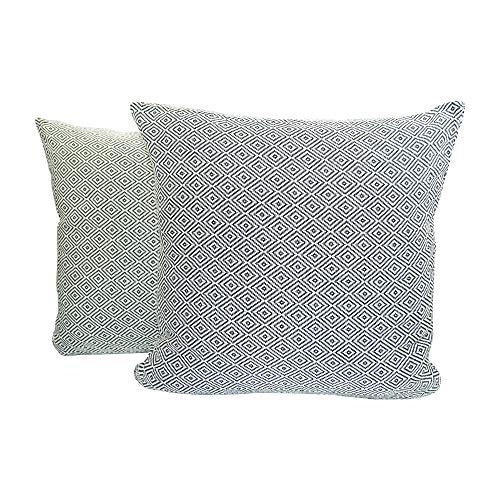 SCN Premium Kissenbezüge (40x40) 2er Set Baumwolle dekorativ modern orientalisch als Zierkissen Kopfkissen Dekokissen Sofakissen Couchkissen Waschbar (Schwarz, 40 x 40 cm)
