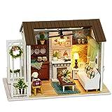 LEMOGO DIY Holz Puppenhaus Handwerk Miniatur Kit-Wohnzimmer Modell & Möbel Zeigen Fotos & Englisch...