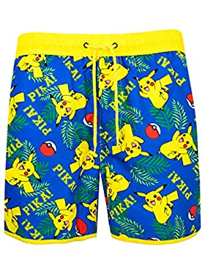Pokèmon Hombre Pikachu Bañadores de natación Multicolor Large por